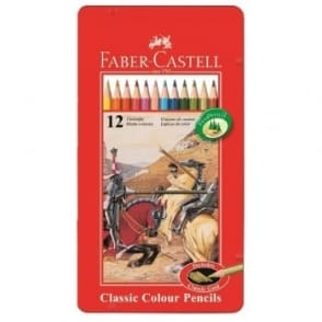 Classic Colour Pencils Tin of 12