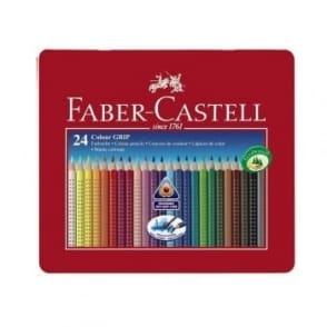 Colour Grip Watercolour Pencils Tin of 24