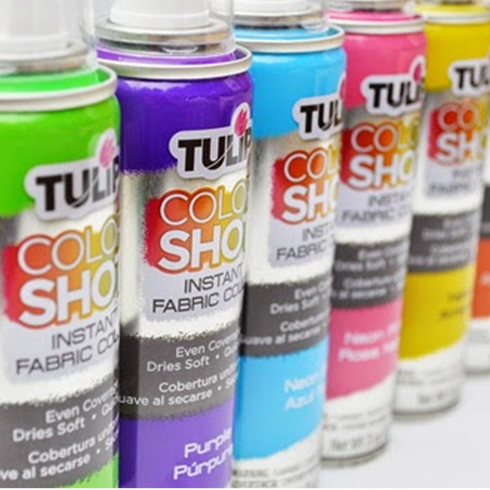 craft hobbies tulip colour shot fabric spray paint 3oz. Black Bedroom Furniture Sets. Home Design Ideas