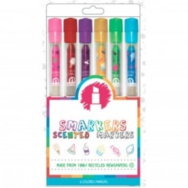 Coloured Scented Markers (6 Pack)