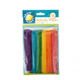 Colourful Extra Large Lollipop Sticks (Pack of 50)