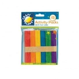 Colourful Lollipop Sticks (Pack of 50)