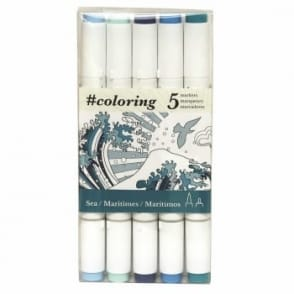 Colouring Dual Tip Markers for Canvas Sea set of 5