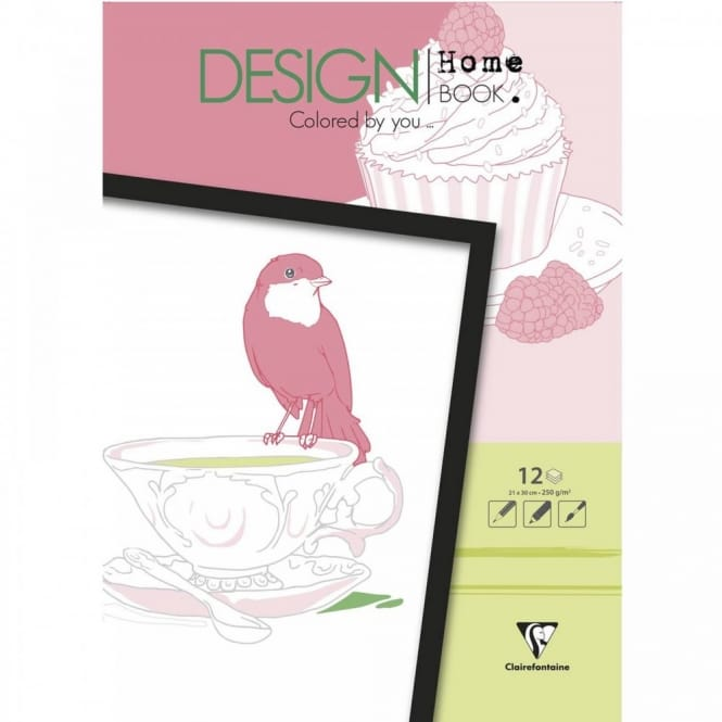 Coluring Book of Birds Cakes and Teacups
