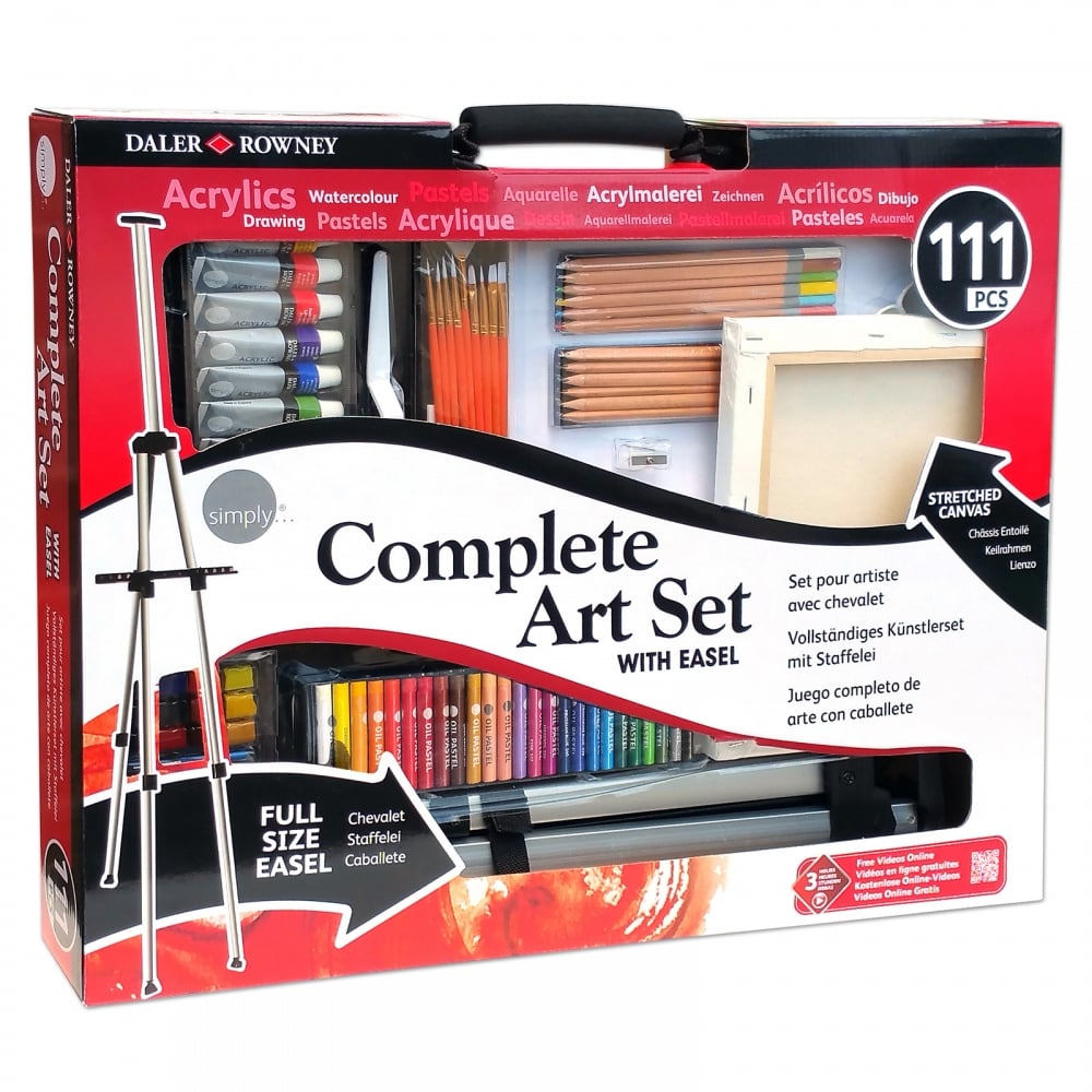 Complete Art Set With Easel 111 Pieces Craftyarts Co Uk