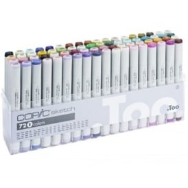 Copic Sketch Marker Colours 72 Pack E