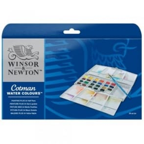 Cotman Painting Plus - 24 Half Pans