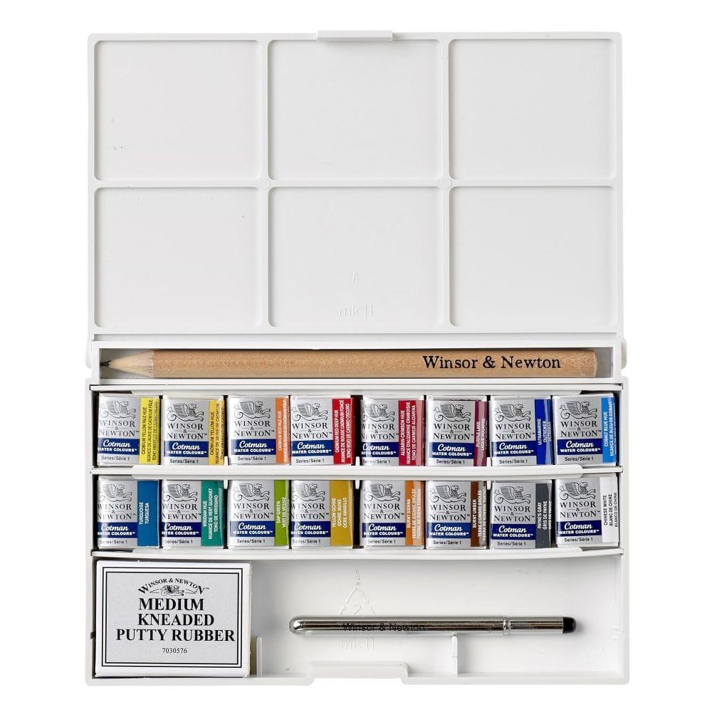 c6fe1b42baae Cotman Water Colour Paints Deluxe 16 Half Pans Sketchers Pocket Box ...