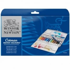 Cotman Watercolour Painting Plus Set -12 Tubes