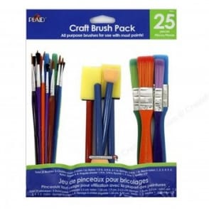 Craft 25 Pack of Assorted Brushes