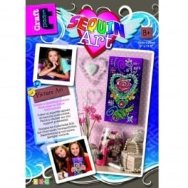 Craft Teen Sequin Art Picture - Rose Tattoo