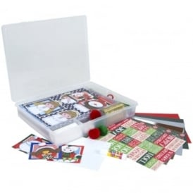 Craft Time Traditional Christmas Greeting Cards & Organiser Kit