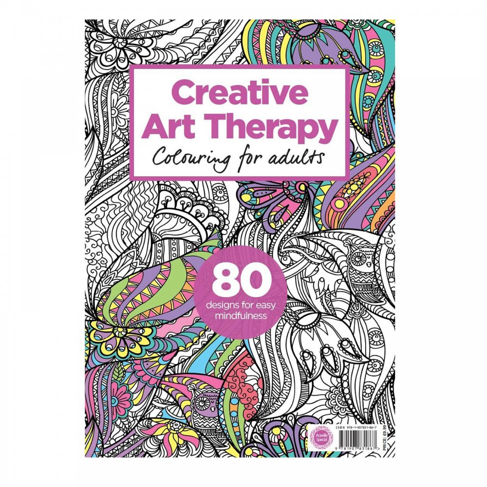 Creative art therapy colouring for adults Colouring books for adults uk