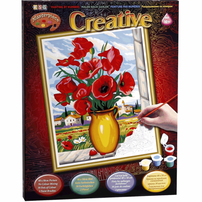 Creative Creations Extra Paint By Number Poppies