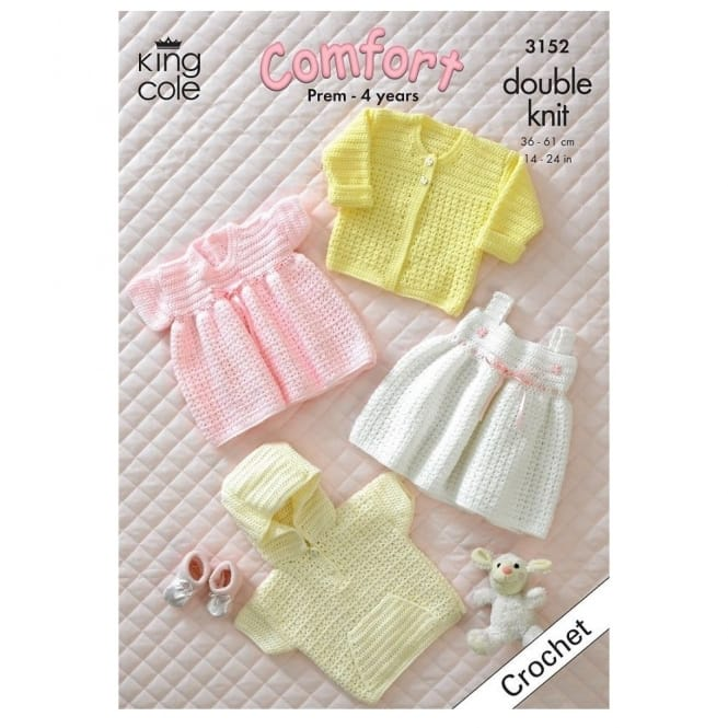 Crochet- Prem-4 Years Girls Clothes 3152