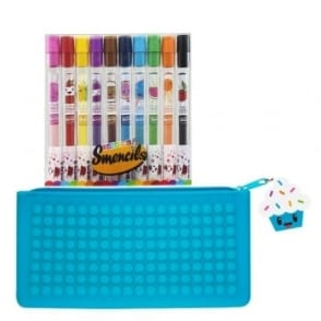 Cupcake Pencil Case and 10 Scented Pencils Smencil Bundle