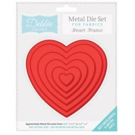 Debbie Shore Fabric Dies - Heart Frame