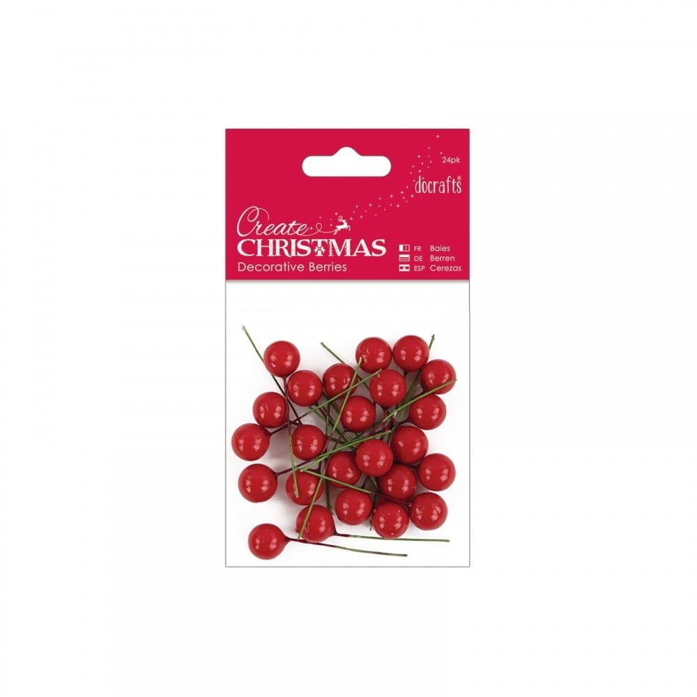Decorative Red Berries 24 Packs*