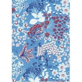 Decoupage Red & Blue Floral Paper Pack of 3