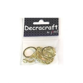 Decracraft by Gold Keyrings Pk 4*