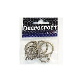 Decracraft by Silver Keyrings Pk 4*