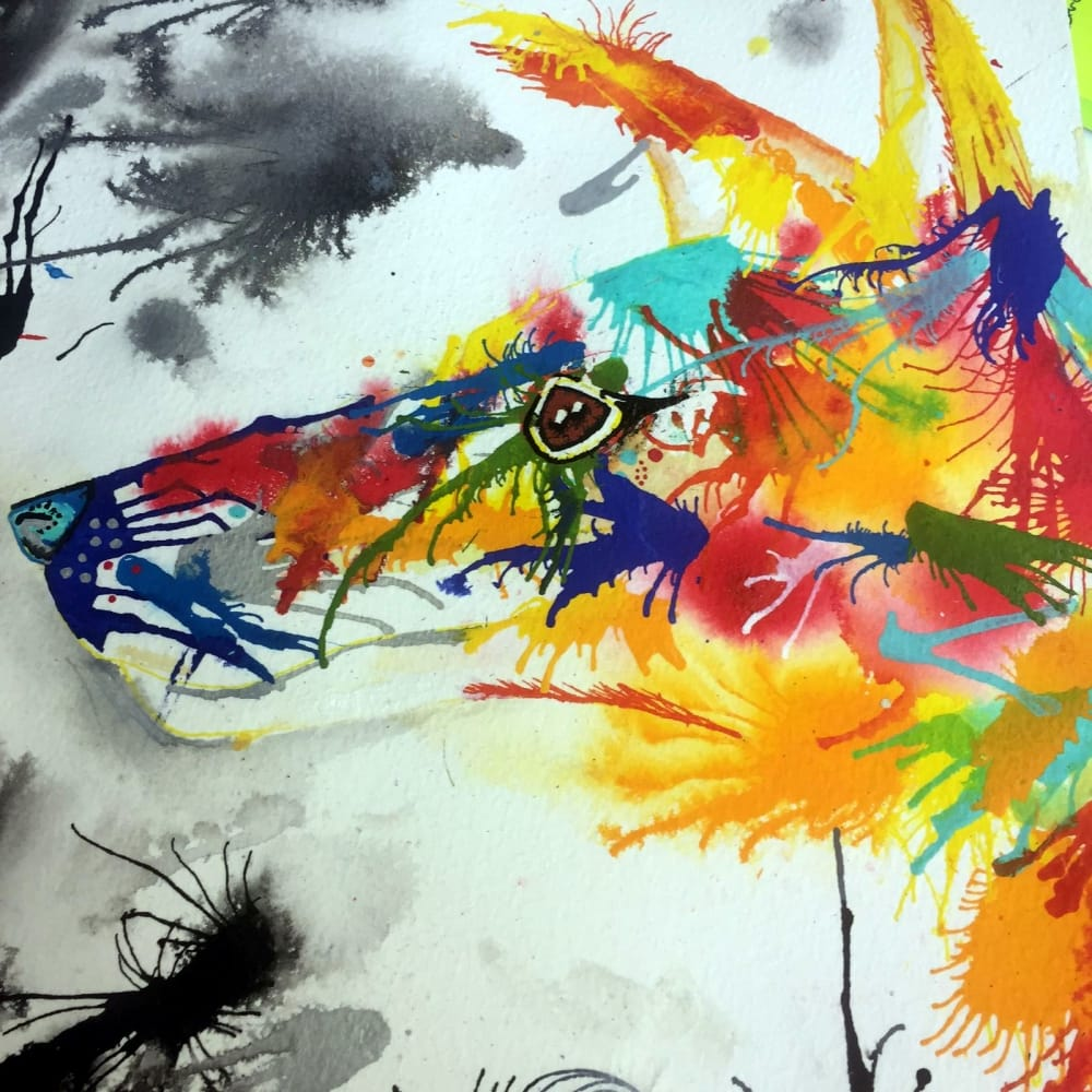 derwent graphik liners and watercolour abstract workshop 10 00