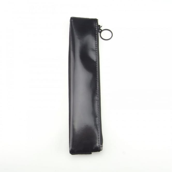 Designer Black Faux Leather Pencil Case