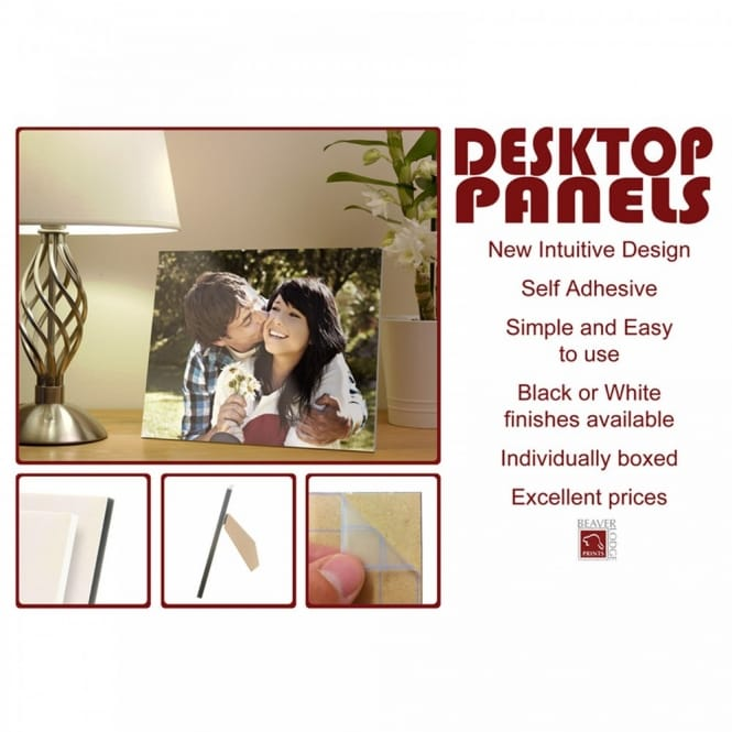 Desktop Black Edged Photo Panel 6 x 4""