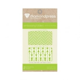 Diamond Press Embossing Folder Arrow & Mixed Stripe
