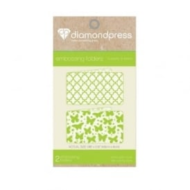 Diamond Press Embossing Folder Butterfly & Lattice