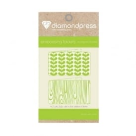 Diamond Press Embossing Folder Woodgrain & Petal