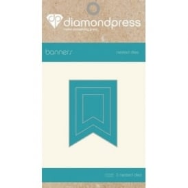Diamond Press - Mini Nested Dies Bunting x3