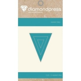 Diamond Press - Mini Nested Dies Bunting2 x3