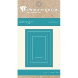 Diamond Press - Mini Nested Dies Rectangles x5