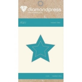 Diamond Press - Mini Nested Dies Stars x2