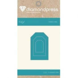 Diamond Press - Mini Nested Dies Tags x5