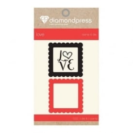 Diamond Press Mini Stamp and Die - Love