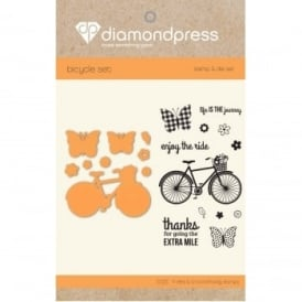 Diamond Press - Stamp and Dies Enjoy the Ride 9 Dies and 12 Stamps