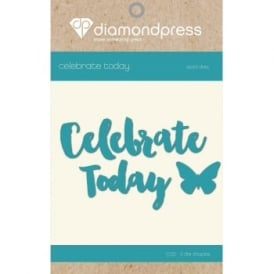 Diamond Press - Word Dies Celebrate Today & Butterfly