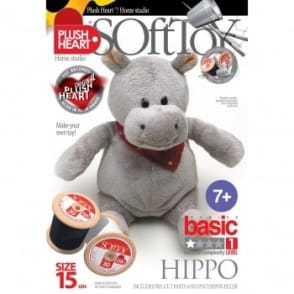 DIY Basic Hippo Soft Toy 15cm