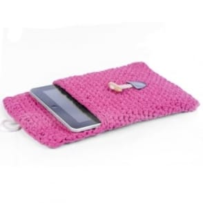 DIY Crochet Kit Tablet Sleeve - Bubblegum