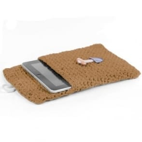 DIY Crochet Kit Tablet Sleeve - Caramel Brown
