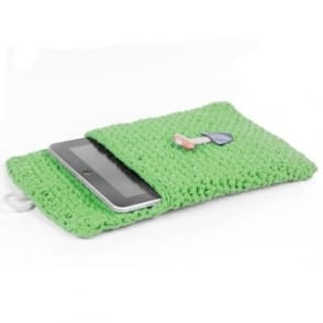 DIY Crochet Kit Tablet Sleeve - Salad Green