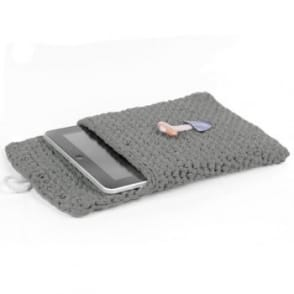 DIY Crochet Kit Tablet Sleeve - Stone Grey