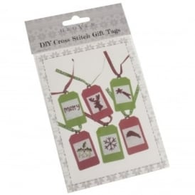 DIY Cross Stitch Gifts Tags Pack of 6