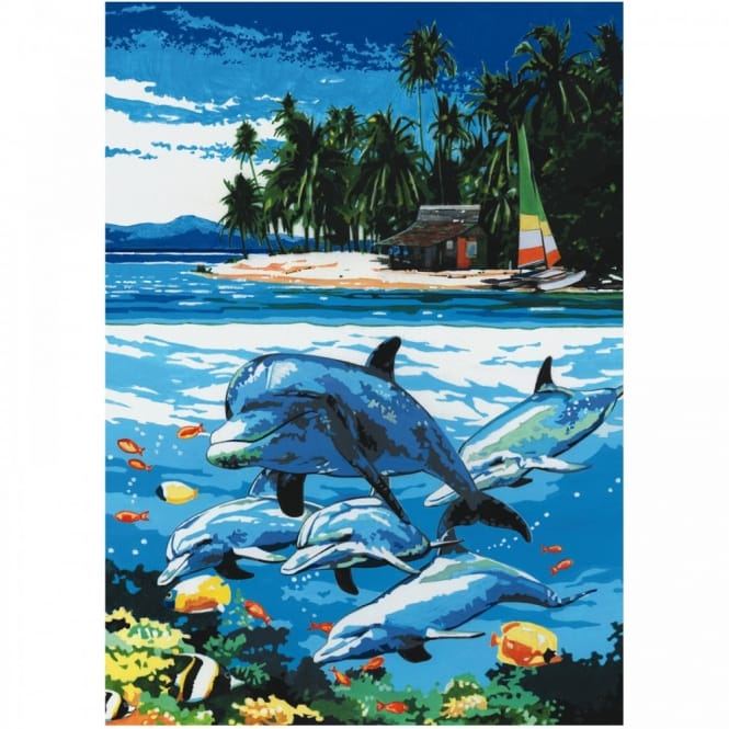 Dolphin Island Painting By Numbers