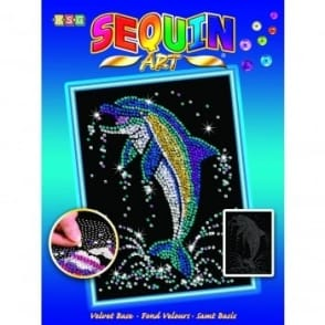 Dolphin Sequin Art