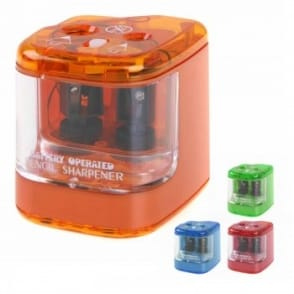 Double Hole Battery Operated Pencil Sharpener
