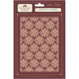 Downton Abbey Embossing Folder - Downton Damask