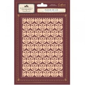 Downton Abbey Embossing Folder - Fleur De Lis